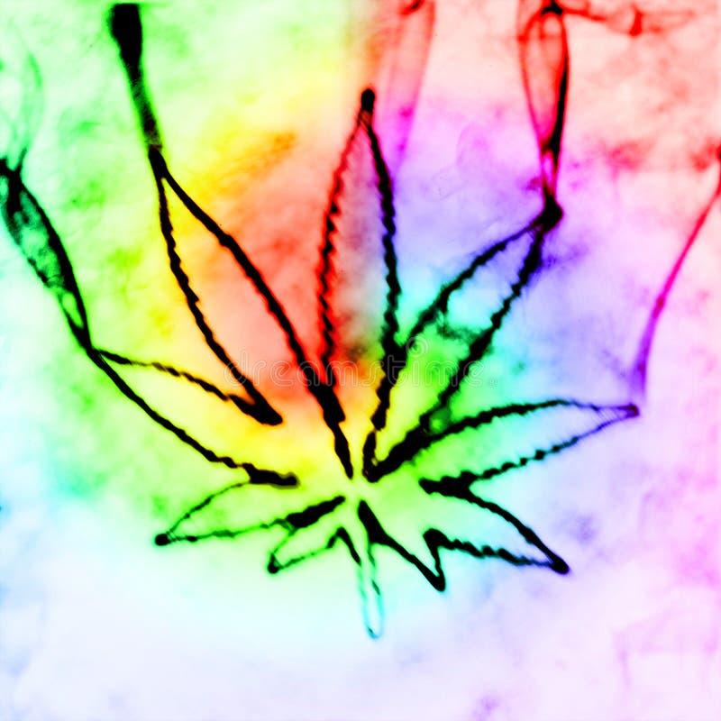 Marihuana in de rook stock illustratie