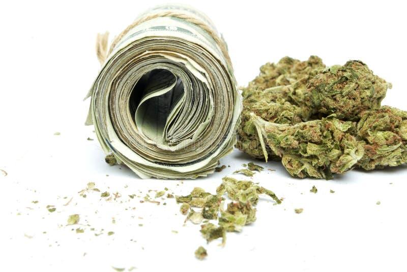 Marihuana en Geld royalty-vrije stock afbeeldingen