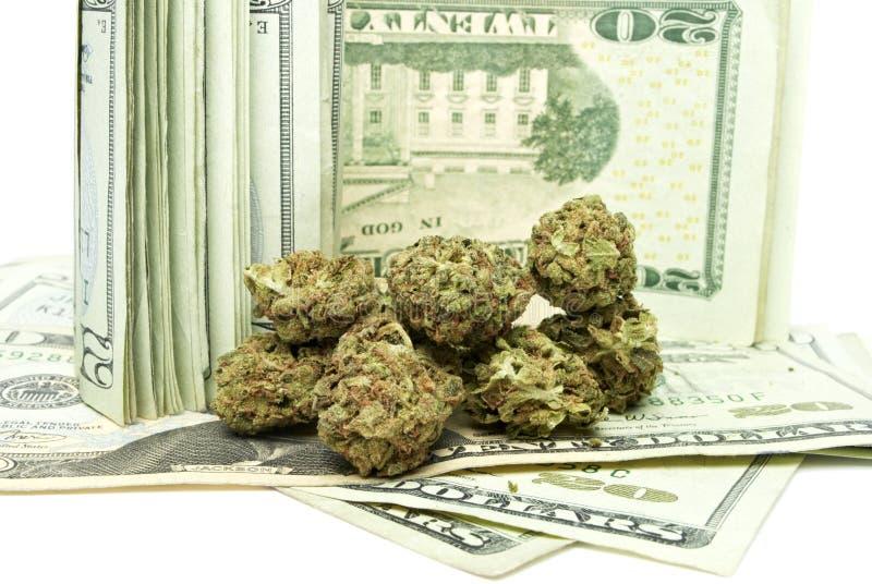 Marihuana, Gelder aus dem Drogenhandel stockfotografie