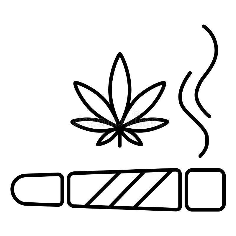 Marihuana gezamenlijk pictogram stock illustratie