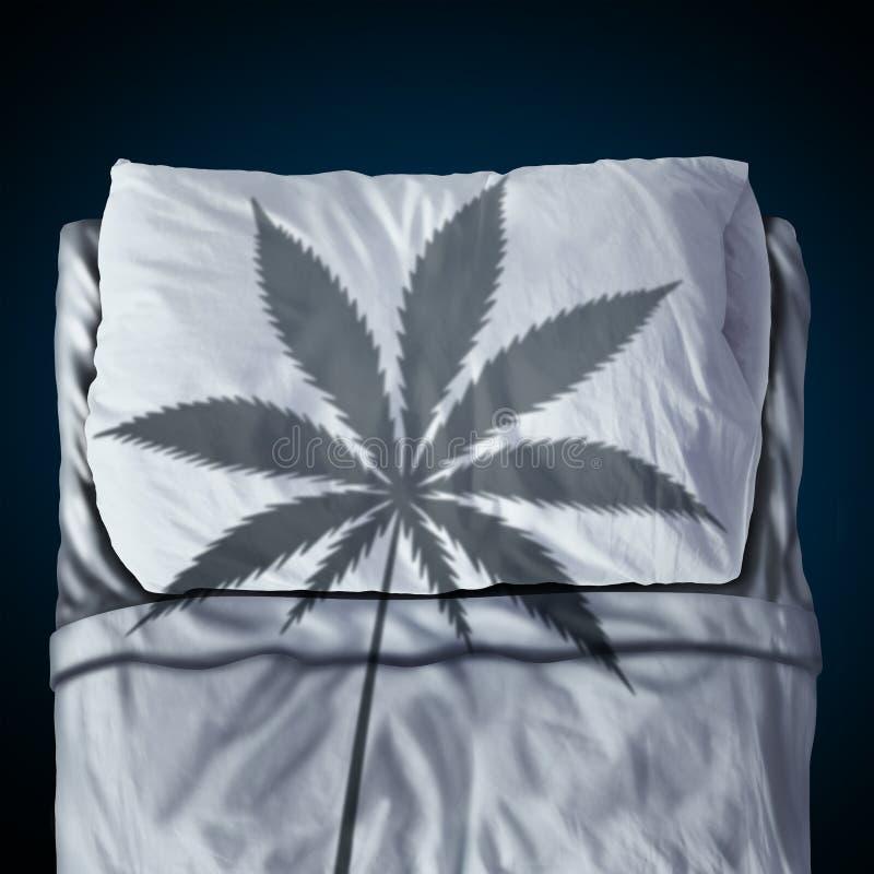 Marihuana I sen royalty ilustracja