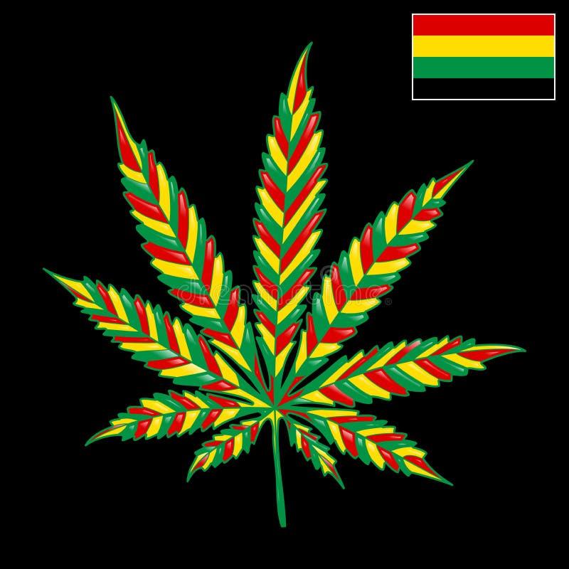 Marihuana Jamaïca-Achtergrond royalty-vrije illustratie