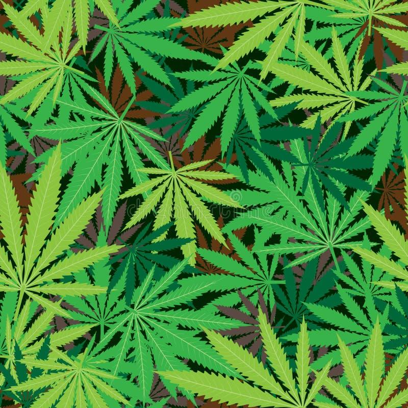 Marihuana konopie tekstura ilustracji