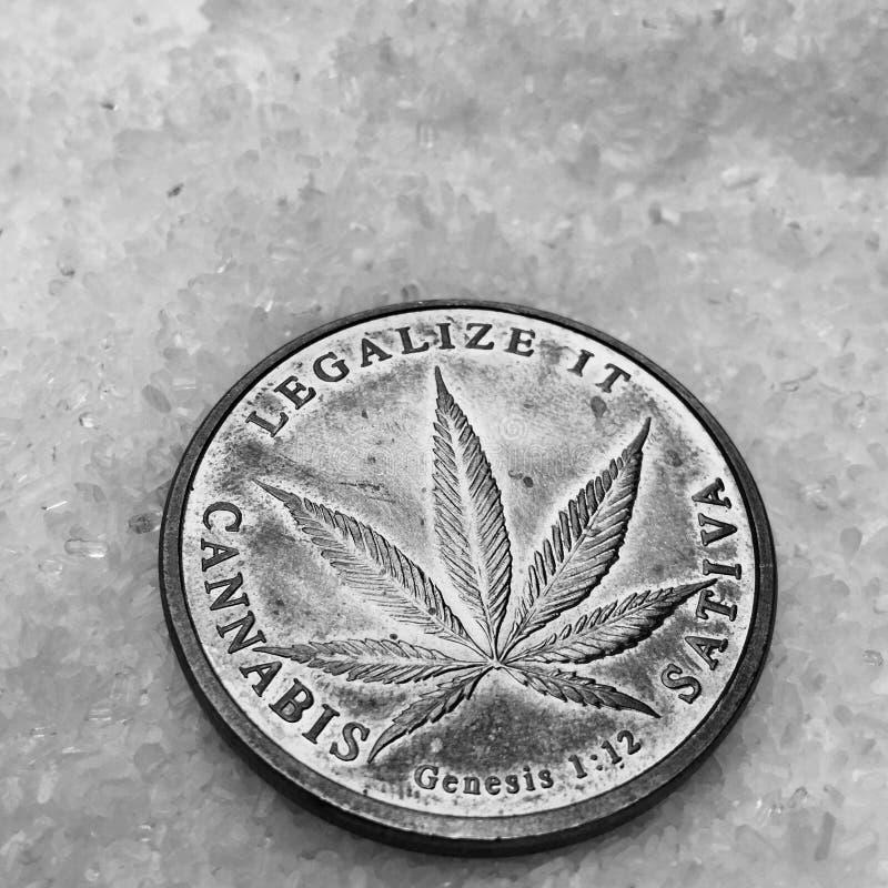 Marihuana legalizuje mnie menniczego fotografia stock