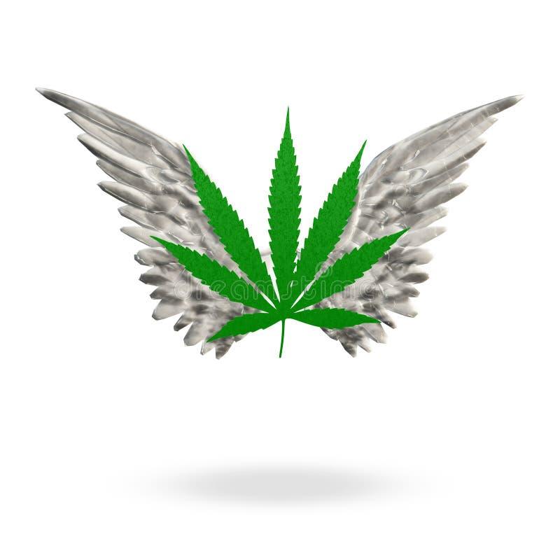 Marihuana liść Wysoki ilustracji