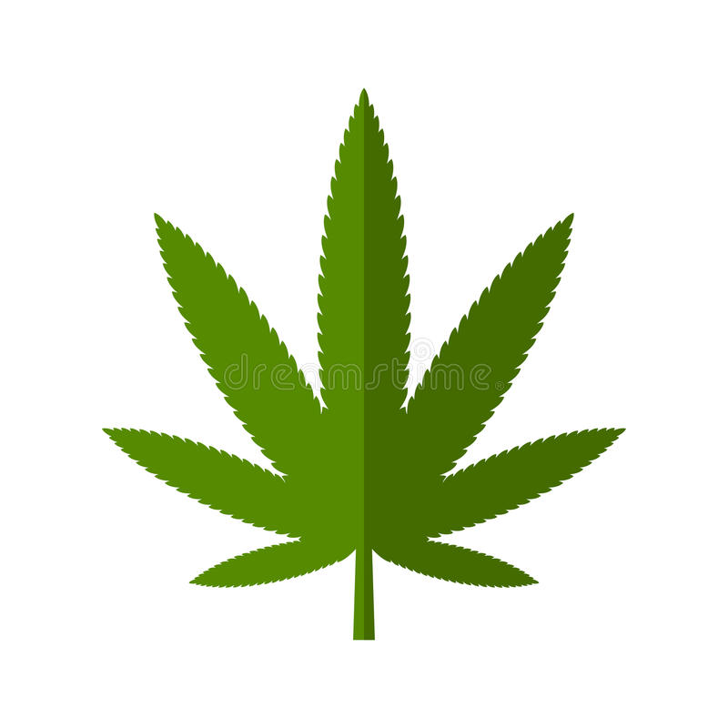 Marihuana liścia ikona ilustracji