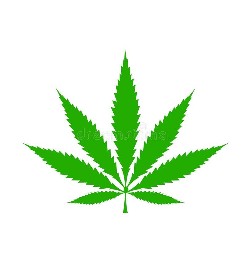 Marihuana liścia ikona ilustracja wektor