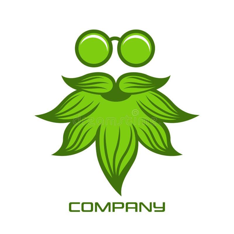Marihuana mężczyzny logo również zwrócić corel ilustracji wektora royalty ilustracja