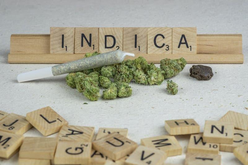 Marihuana p?czki fotografia stock