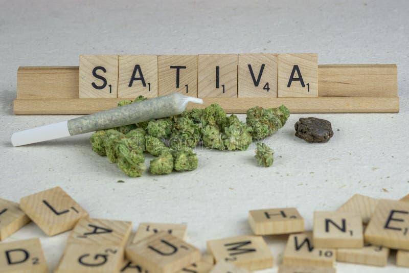 Marihuana p?czki zdjęcie stock