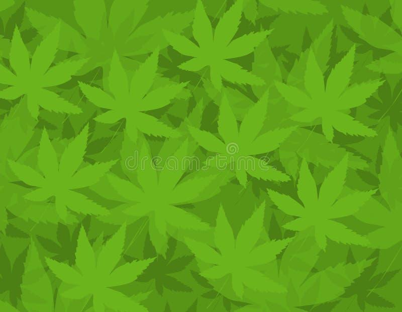 Marihuana Patern lizenzfreie abbildung