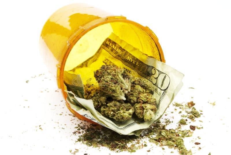 Marihuana pieniądze i zdjęcia stock