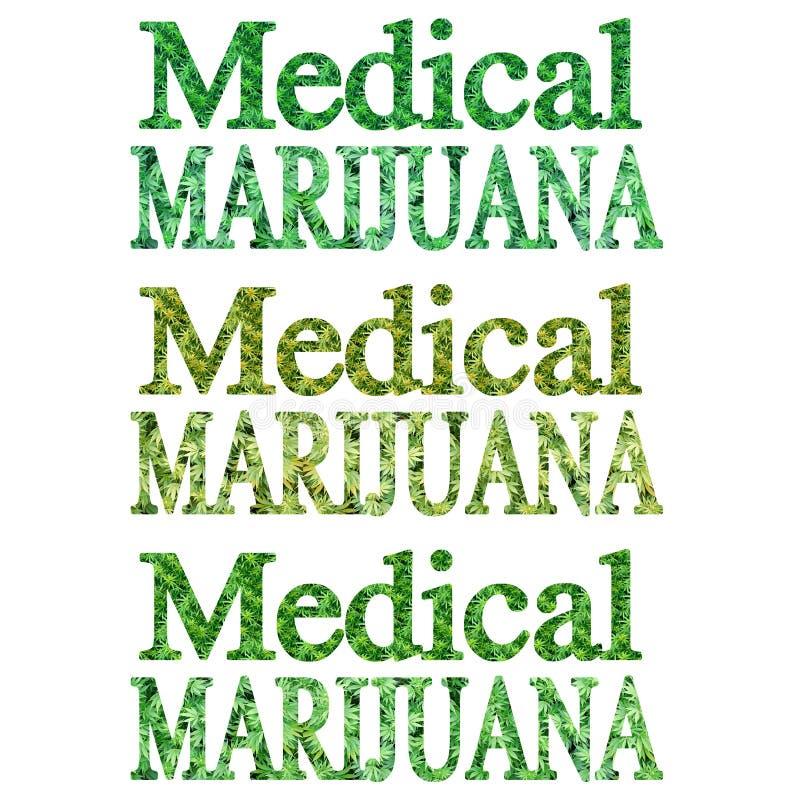 Marihuana RX royalty-vrije illustratie