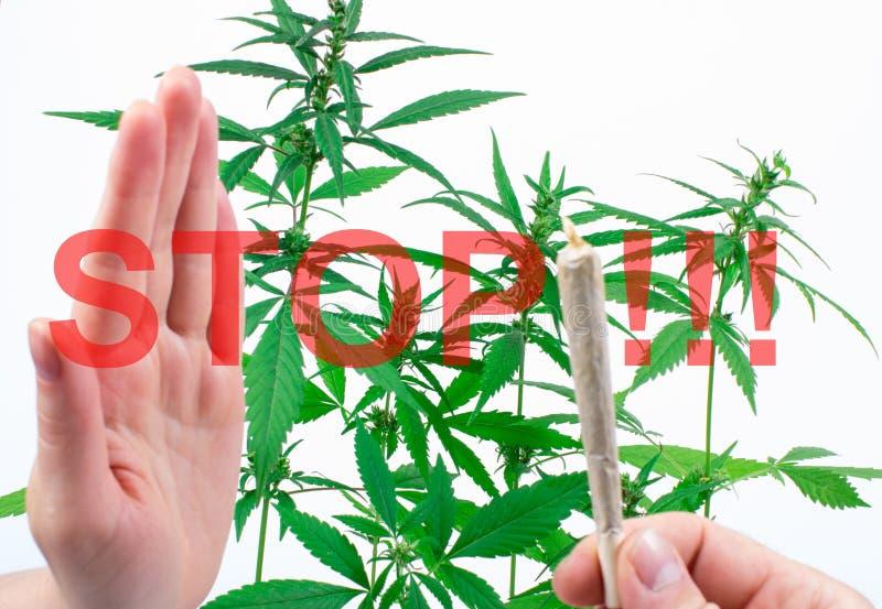 marihuana Stoppen Sie Sucht lizenzfreie stockbilder