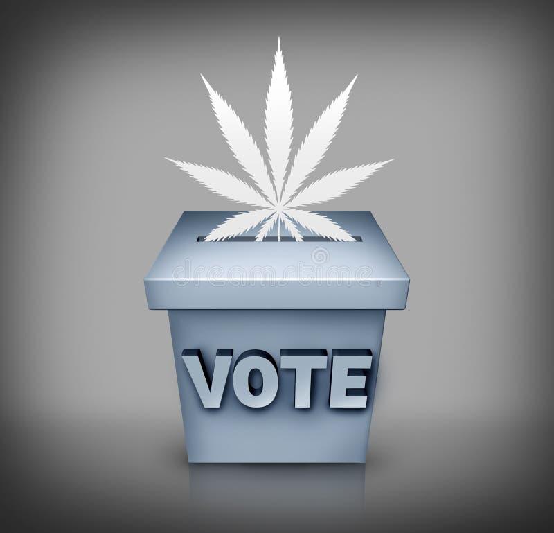 Marihuana wybory zagadnienie ilustracja wektor