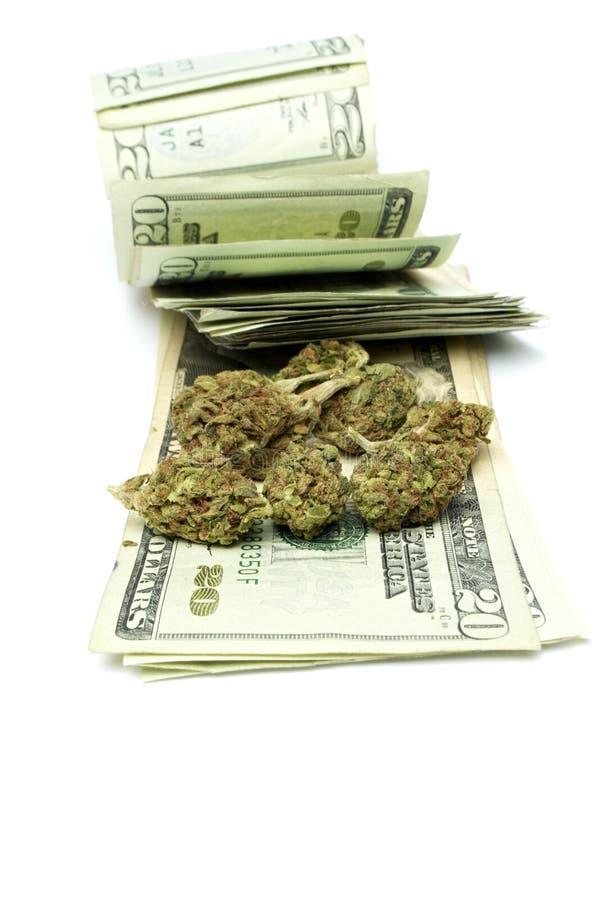 Marihuana, zyski ze sprzedaży narkotyków obrazy stock