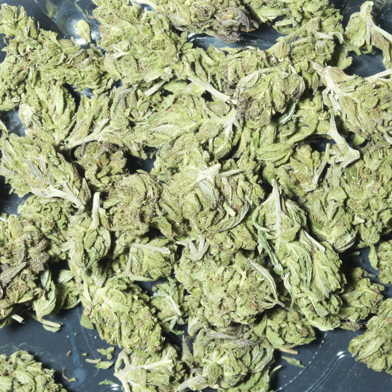 Marihuanaachtergrond stock foto's