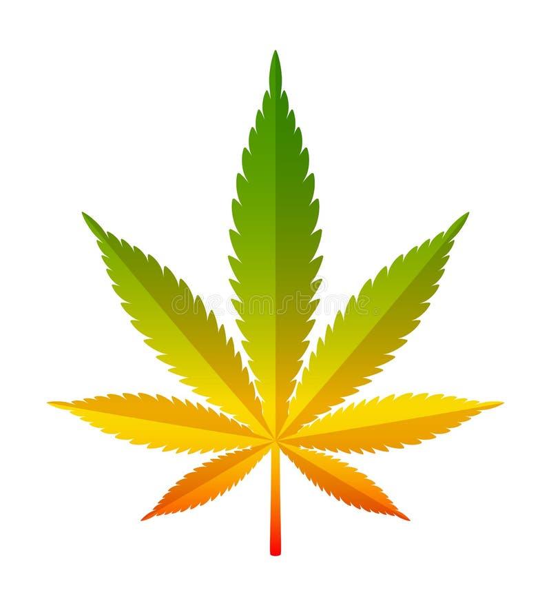 Marihuanablad royalty-vrije illustratie
