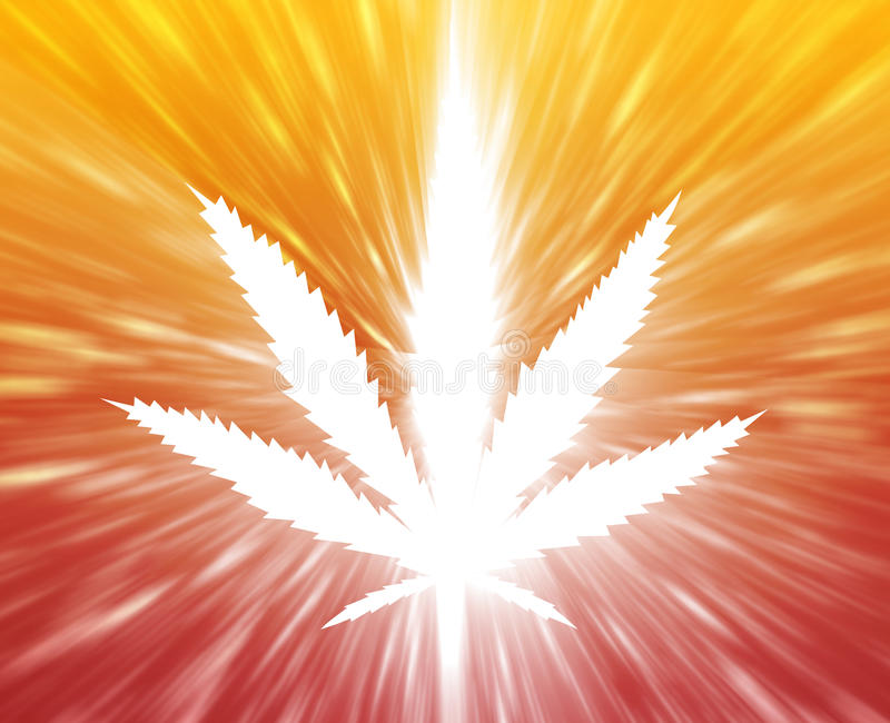 Marihuanablattabbildung stock abbildung