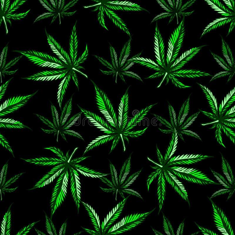 Marihuanablattmuster lizenzfreies stockfoto