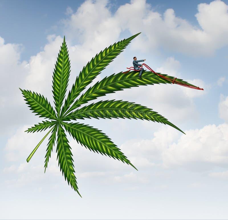 Marihuanaconcept vector illustratie