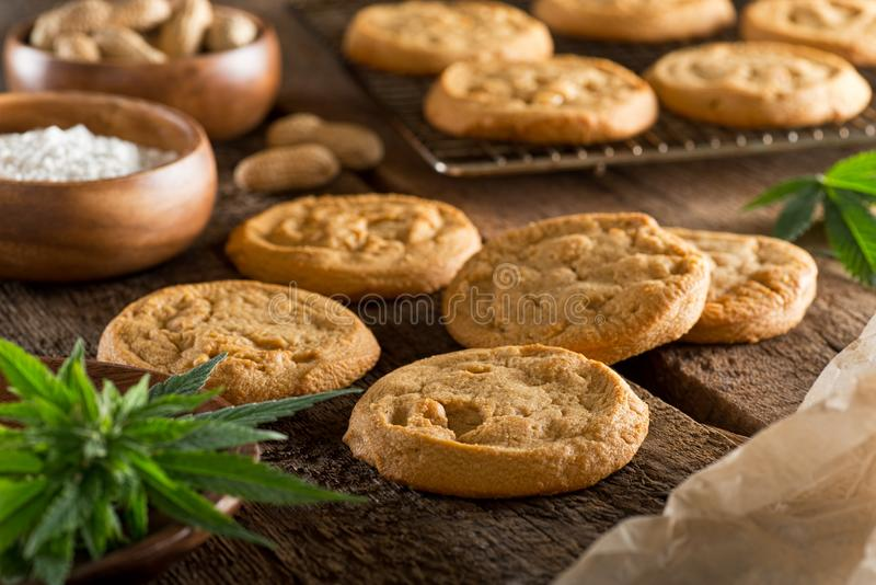 Marihuanakoekjes stock afbeelding