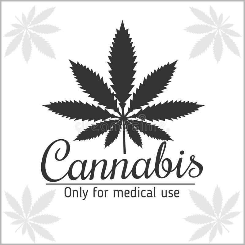 Marihuanalogo - Hanf für medizinische Verwendung lizenzfreie abbildung