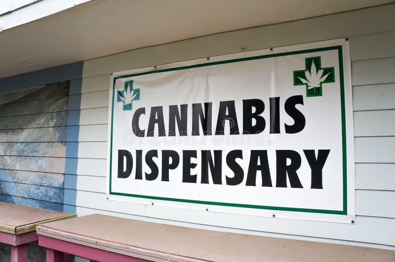 Marihuany dispensary znak obrazy stock