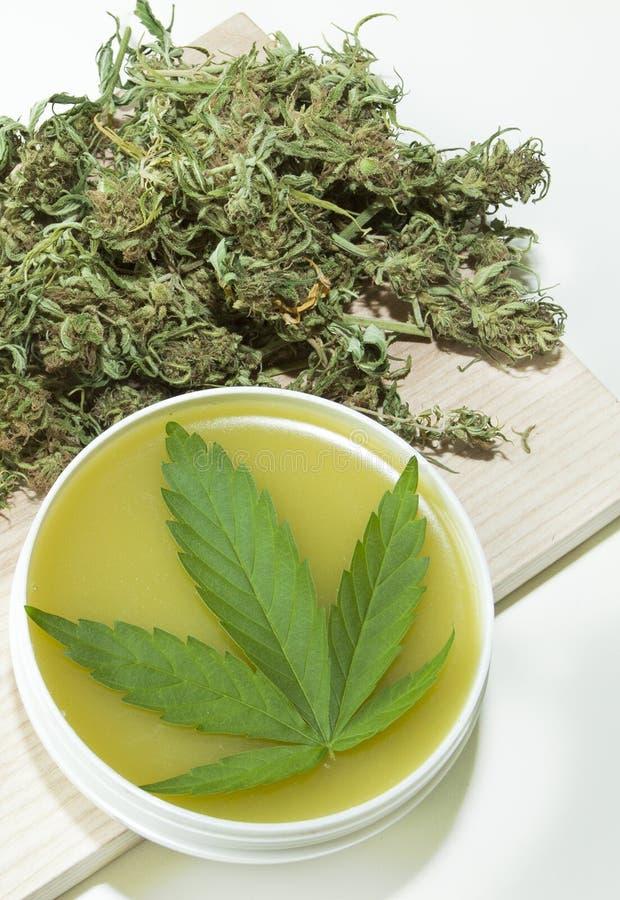 Marihuany marihuana i leaf i ziarna ilustracji