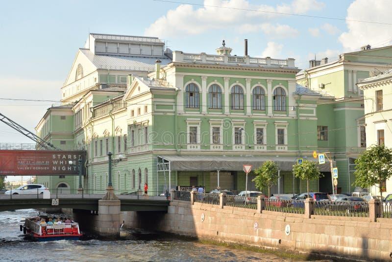 Mariinsky剧院的主要历史大厦 免版税库存照片