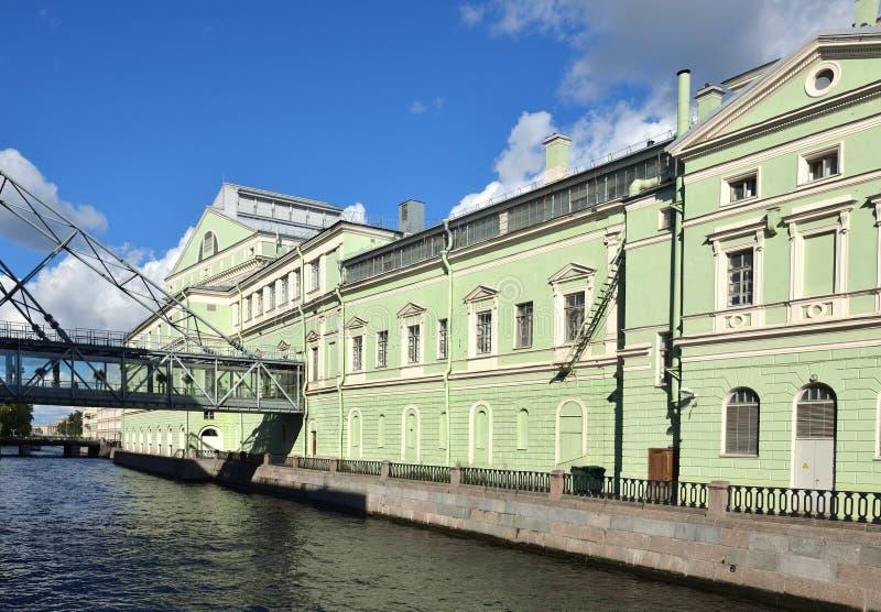 Mariinskytheater, historisch theater van opera en ballet in Heilige Petersburg, Rusland Geopend in 1860 royalty-vrije stock foto's