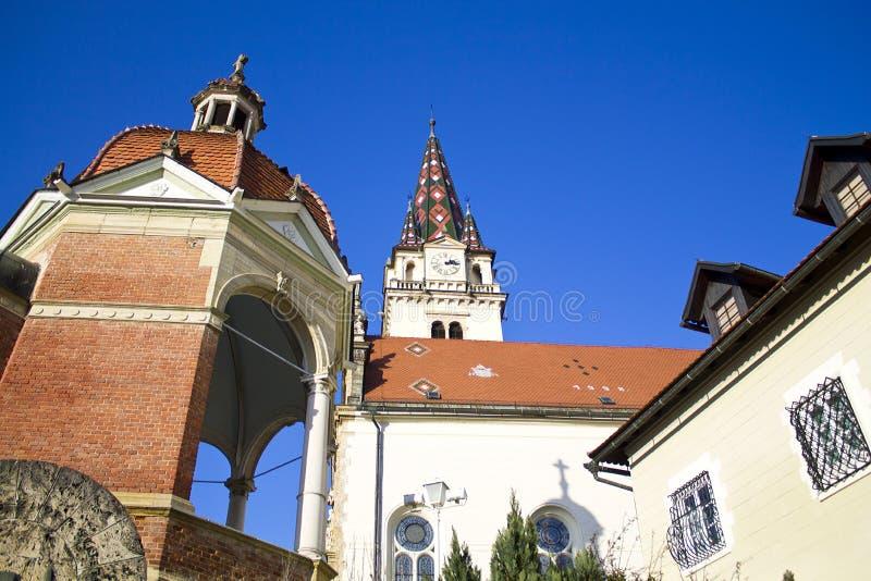 Marija bisrica cathedral stock image