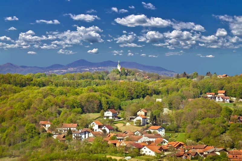 Marija Bistrica, green nature of Zagorje. Croatia stock photos