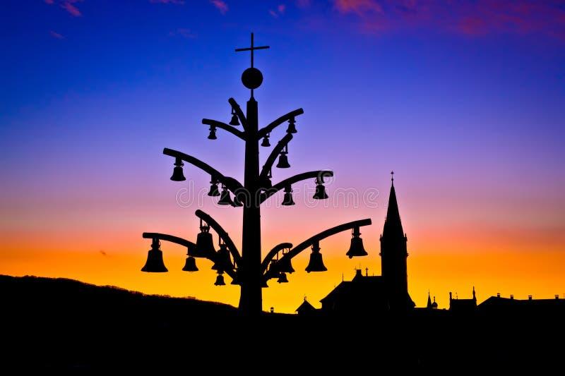 Marija Bistrica marian shrine architecture silhouette stock image