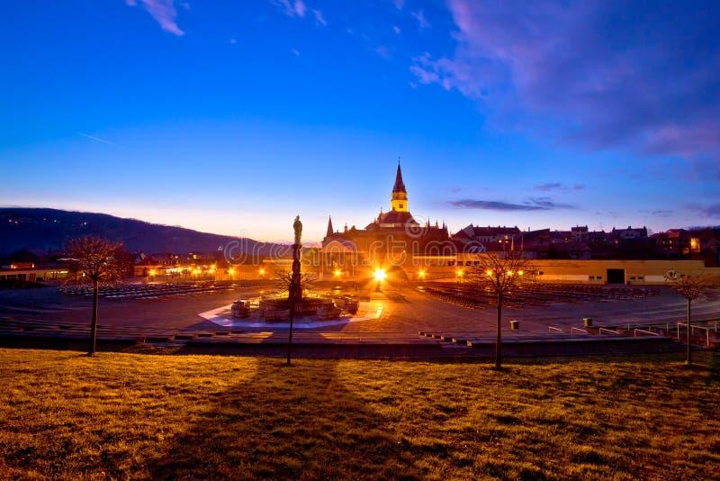 Marija Bistrica shrine evening view stock image