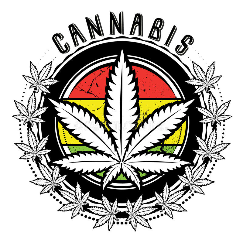 Free Marijuana And Weed Leaf Logo Design Royalty Free Stock Images - 38977809