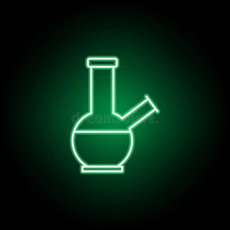 A marijuana bong o ícone do esboço no estilo de néon Pode ser usado para a Web, logotipo, app m?vel, UI, UX ilustração royalty free