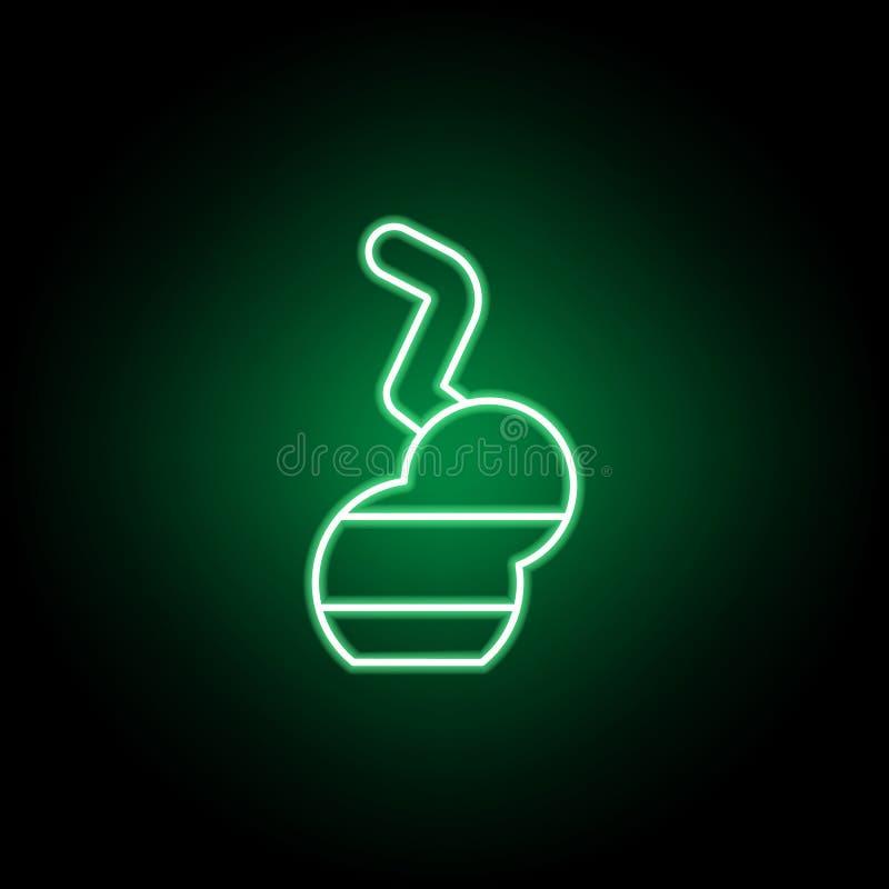 A marijuana bong o ?cone do esbo?o no estilo de n?on Pode ser usado para a Web, logotipo, app m?vel, UI, UX ilustração royalty free