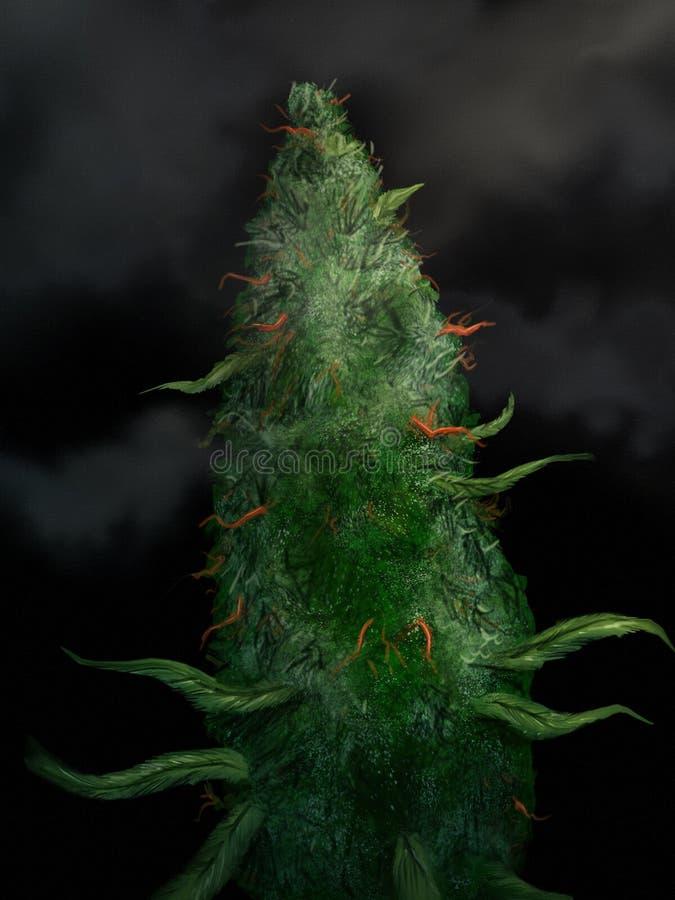 Marijuana Bud - Digital Painting Stock Image