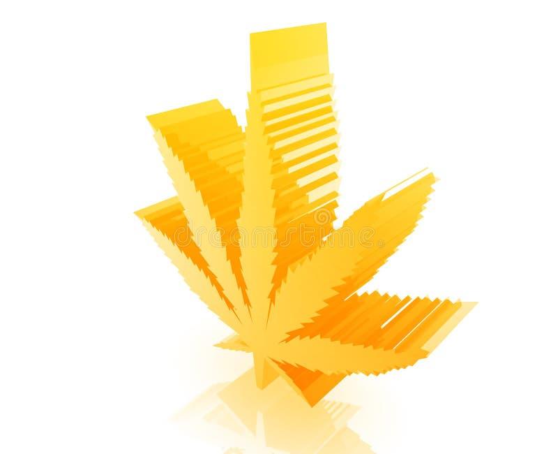 Marijuana cannabis leaf royalty free illustration