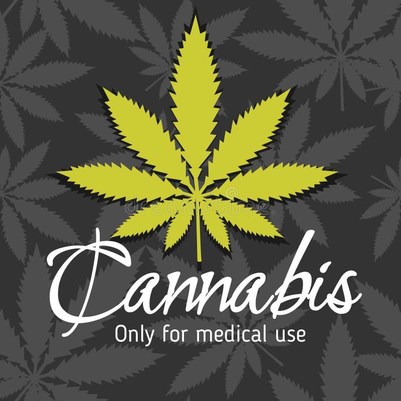 Marijuana - cannabis. For medical use. Vector set royalty free illustration