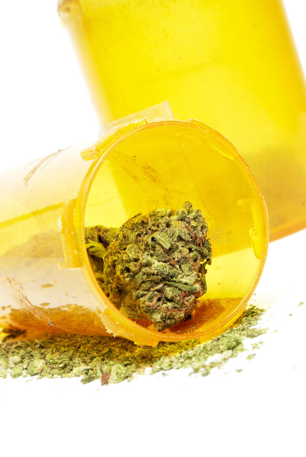 Marijuana. And Cannabis on White Background stock photography
