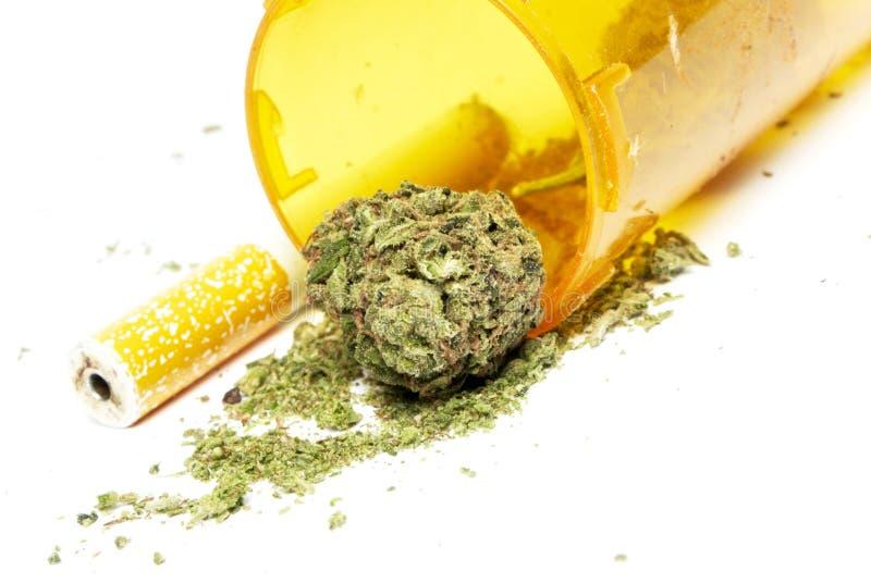 Marijuana. And Cannabis on White Background royalty free stock images