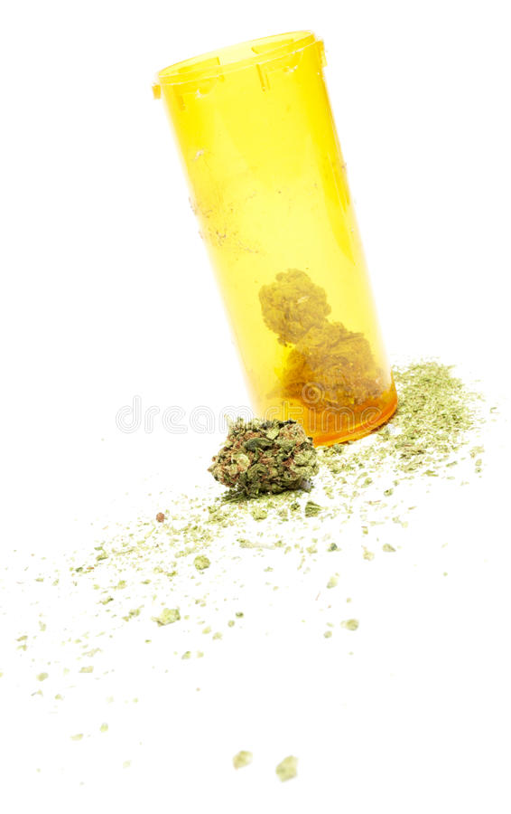 Marijuana. And Cannabis on White Background stock photo