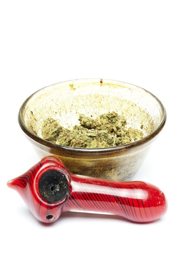 Marijuana. And Cannabis on White Background royalty free stock photography