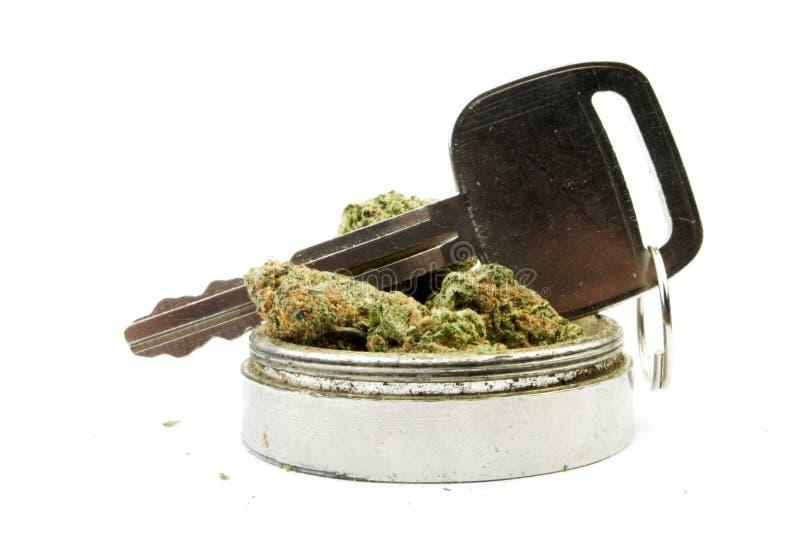 Marijuana, conduzindo o carro foto de stock