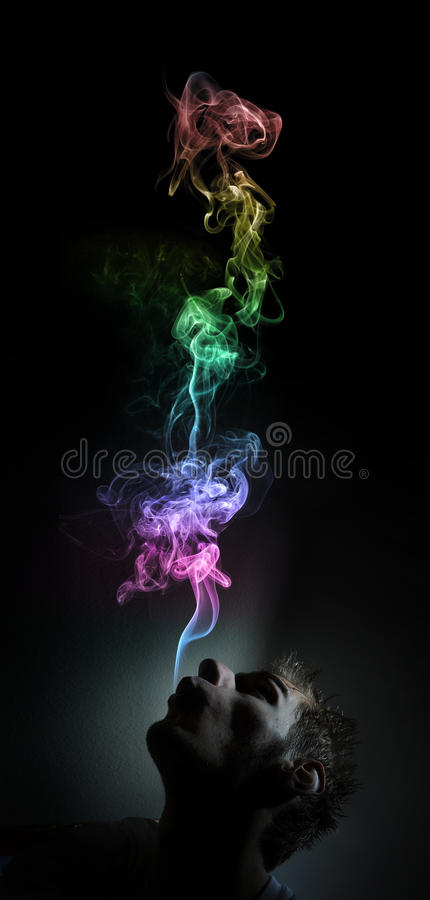 Marijuana de fumo imagens de stock