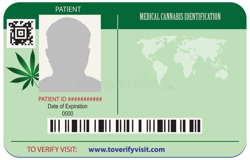 Marijuana de patient de carte d'identité illustration stock