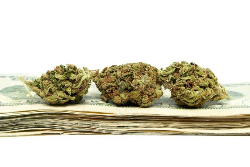 Marijuana, dinero de droga foto de archivo libre de regalías