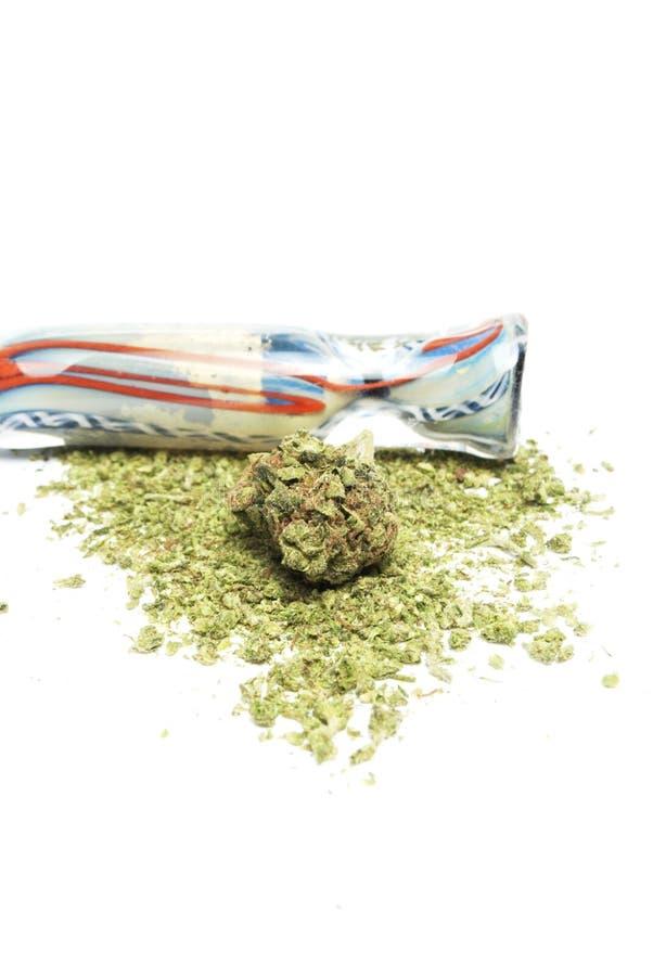 Marijuana. Drugs and Money, Marijuana and Cash on White Background royalty free stock images